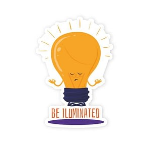 Be Iluminated Sticker | Vinyl Stickers