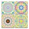 Colourful Mandala Pack   Set of 4   Coasters