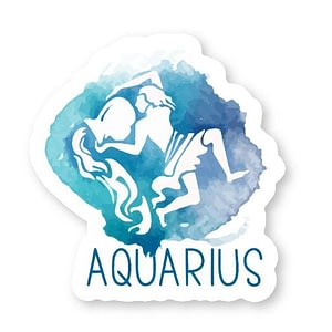 Aquarius Zodiac Sticker | Vinyl Stickers