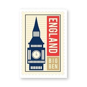 England Sticker   Vinyl Stickers