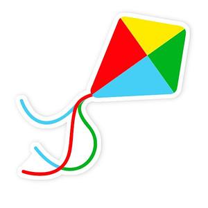 Kites 2 Sticker | Vinyl Stickers
