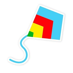Kites 3 Sticker | Vinyl Stickers