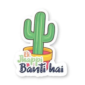 Ek Jhappi Sticker   Vinyl Stickers
