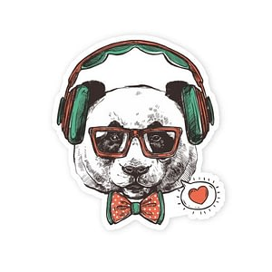Hipster Pug | Vinyl Stickers