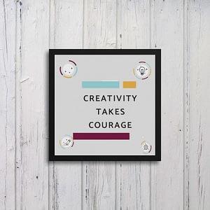 Creativity Takes Courage Art Frames