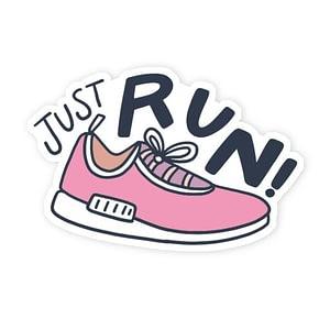 Just Run Sticker   Vinyl Stickers