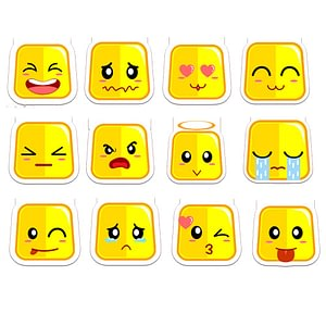 Emojis Set 1 | Die-Cut Bookmark Bundle