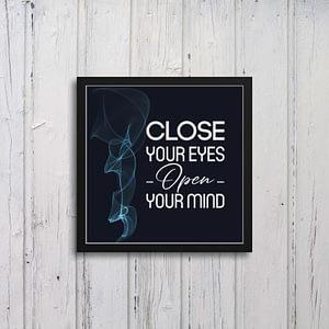 Close Your Eyes Art Frames