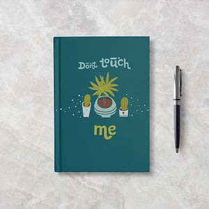 Don't Touch Me Softcover Notebook - Ruled