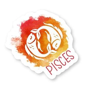 Pisces Zodiac Sticker | Vinyl Stickers