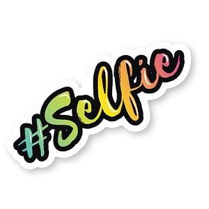 #Selfie Sticker | Vinyl Stickers