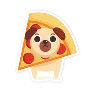 Dog vs Pizza Sticker | Vinyl Stickers