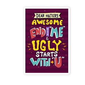 Dear Haters Sticker | Vinyl Stickers