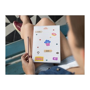 Lines Softcover Notebook - Ruled