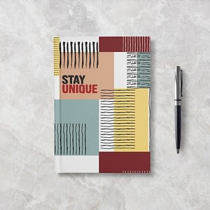 Stay Unique Softcover Notebook - Ruled