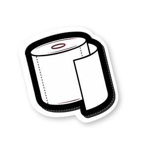 Toilet Roll Sticker   Vinyl Stickers